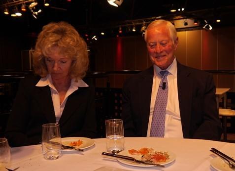 aan tafel met Brian Tracy